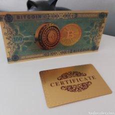 Reproductions billets et monnaies: EXCLUSIVO BILLETE BITCOIN CON CERTIFICADO DE AUTENTICIDAD. Lote 253654995