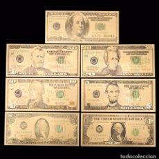 Reproducciones billetes y monedas: LOTE DE BILLETES DOLAR ORO 24KL. Lote 205060860