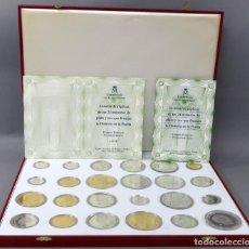 Reproducciones billetes y monedas: EMISIÓN RÉPLICAS DE LAS MONEDAS DE PLATA Y ORO QUE FORMAN LA HISTORIA DE LA PESETA CERTIFICADO. Lote 205133516