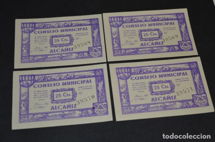 Reproducciones billetes y monedas: 10 BILLETES GUERRA CIVIL / 25 Céntimos / Consejo Municipal Alcañiz JUNIO 1937 - CONSECUTIVOS ¡Mira! - Foto 6 - 205802766