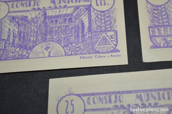Reproducciones billetes y monedas: 10 BILLETES GUERRA CIVIL / 25 Céntimos / Consejo Municipal Alcañiz JUNIO 1937 - CONSECUTIVOS ¡Mira! - Foto 10 - 205802766