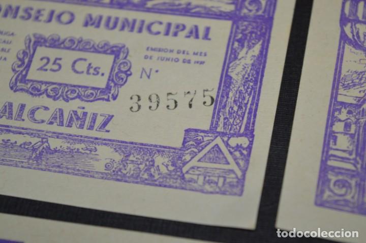 Reproducciones billetes y monedas: 10 BILLETES GUERRA CIVIL / 25 Céntimos / Consejo Municipal Alcañiz JUNIO 1937 - CONSECUTIVOS ¡Mira! - Foto 13 - 205802766