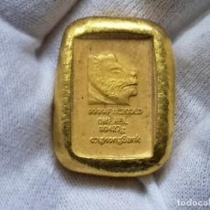 Reproducciones billetes y monedas: LINGOTE PESA 60 GRAMOS ----- MIRAD FOTOS. Lote 205805807