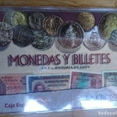 Reproducciones billetes y monedas: MONEDAS Y BILLETES EN LA HISTORIA DE LEÓN.COLECCIÓN INCOMPLETA. 1998. VER FOTOS. Lote 206151330
