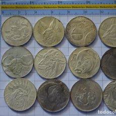Reproducciones billetes y monedas: 12 MONEDAS MEDALLAS. REPRODUCCIÓN NUMISMÁTICA. CHINA. ZODIACO HORÓSCOPO CHINO. AÑO RATA MONO. 220GR. Lote 206219438