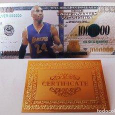 Reproducciones billetes y monedas: EXCLUSIVO BILLETE HOMENAJE AL JUGADOR DE BASKET 99,9% PLATA. Lote 206502552
