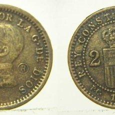 Reproducciones billetes y monedas: REPRODUCCION DE UNA MONEDA DE ALFONSO XIII 2 CENTIMOS 1912. Lote 207046313