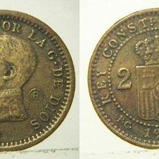 Reproducciones billetes y monedas: REPRODUCCION DE UNA MONEDA DE ALFONSO XIII 2 CENTIMOS 1912. Lote 207046388
