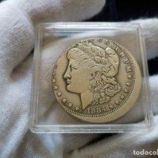 Reproducciones billetes y monedas: DOLAR MORGAN ERROR RARA. Lote 207089611