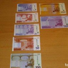 Reproducciones billetes y monedas: RÉPLICA DE 7 BILLETES DE EURO PUBLICIDAD BANCO CAIXANOVA. Lote 207114543