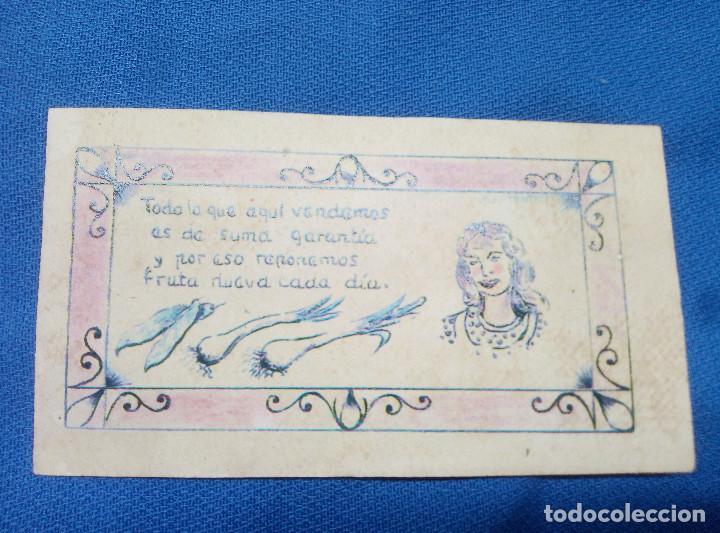 Reproducciones billetes y monedas: BILLETE LOCAL MERCADO CENTRAL DE LEGAZPI DE FRUTAS Y VERDURAS 1937 POR UN DIA DE TRABAJO ( MADRID ) - Foto 2 - 207234446