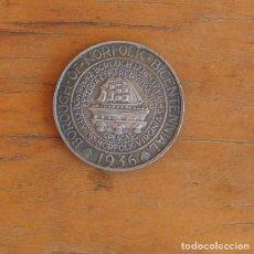 Reproducciones billetes y monedas: MEDIO DOLAR DE PLATA USA 1936 CONMEMORATIVA BICENTENARIO BOROUGH NORFOLK. Lote 208287138