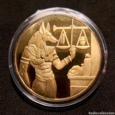 Reproducciones billetes y monedas: MONEDA EGIPTO. LA MUERTE DEL DIOS ANUBIS.. Lote 208310935