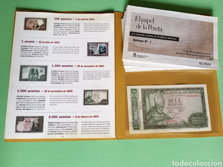 Reproducciones billetes y monedas: EL PAPEL DE LA PESETA completo - Foto 3 - 208357651