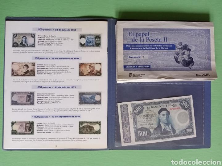 Reproducciones billetes y monedas: EL PAPEL DE LA PESETA II completo - Foto 2 - 208359633