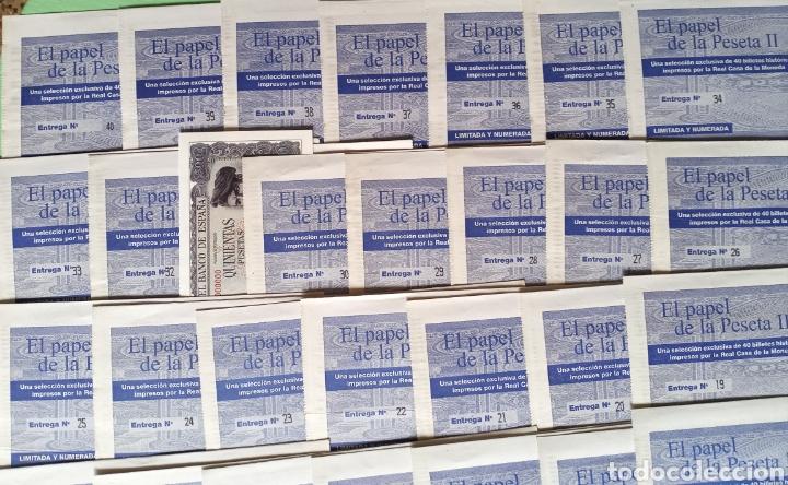 Reproducciones billetes y monedas: EL PAPEL DE LA PESETA II completo - Foto 5 - 208359633