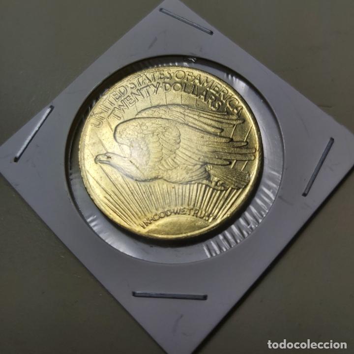 Reproducciones billetes y monedas: COPIA MONEDA 20 DOLARES SAN GAUDEN 1908. ESTADOS UNIDOS. - Foto 2 - 208790052