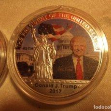 Reproducciones billetes y monedas: MONEDA CONMEMORATIVA PRESIDENTE USA TRUMP ENCAPSULADA 2017. Lote 208845027