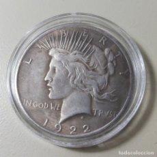 Reproducciones billetes y monedas: MONEDA DE DOS CARAS BATMAN. USA 1922 LIBERTY. Lote 208893255