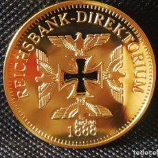 Riproduzioni banconote e monete: MONEDA ORO 24K ALEMANIA NAZI 1888 TERCER REICH EN SU CAPSULA PROTECTORA. Lote 209046020