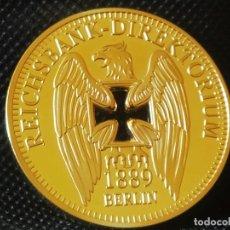 Riproduzioni banconote e monete: MONEDA ORO 24K ALEMANIA NAZI 1889 BERLIN EN SU CAPSULA PROTECTORA. Lote 209073411