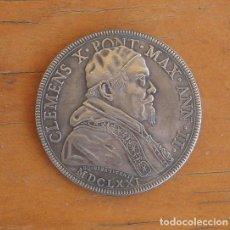 Reproducciones billetes y monedas: MONEDA PAPAL DE 1671 DEL PAPA CLEMENTE X. Lote 209669900