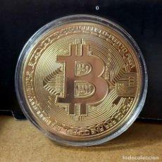 Reproducciones billetes y monedas: CURIOSA MONEDA BITCOIN.. Lote 210060560