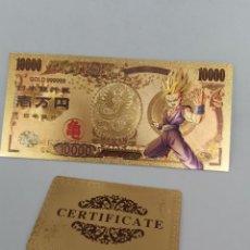 Reproductions billets et monnaies: BILLETE DE ORO 24K EN HOMENAJE A DRAGON BALL Z ( BOLA DEL DRAC) CON CERTIFICADO DE AUTENTICIDAD. M1. Lote 220553108