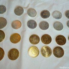 Reproducciones billetes y monedas: LOTE DE 23 REPRODUCCIONES DE MONEDAS HISTÓRICAS HECHAS POR LA FMNT EN 2002. Lote 210447616