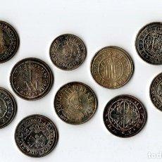 Reproducciones billetes y monedas: 10 MONEDAS VIEJAS SUCIAS. Lote 210447632