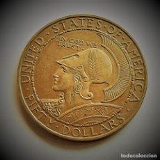 Reproduções notas e moedas: ESTADOS UNIDOS 1915 $50 DOLLARS PANAMA PACIFIC EXPOSITION SAN FRANCISCO - 35.80.GR. - 43.MM DIAMETRO. Lote 226031103