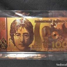 Reproducciones billetes y monedas: BILLETE CONMEMORATIVO DE LOS BEATLES. JOHN LENNON. Lote 212609785
