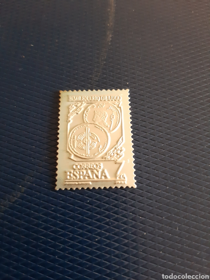 GUERRAS CÁNTABRAS LUGO SELLO EN PLATA BIMILENARIO 2000 AÑOS CIUDAD ROMANA (Numismática - Reproducciones)
