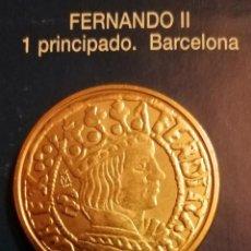 Reproducciones billetes y monedas: 1 PRINCIPADO FERNANDO II-BARCELONA-REPLICA. Lote 213439077