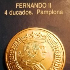 Reproducciones billetes y monedas: 4 DUCADOS FERNANDO II. Lote 213439416