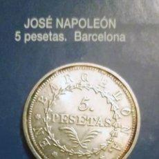 Reproducciones billetes y monedas: 5 PESETAS JOSE NAPOLEON-BARCELONA. Lote 213439600