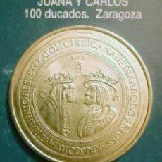 Reproducciones billetes y monedas: 100 DUCADOS JUANA Y CARLOS. Lote 213439758