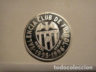 Reproducciones billetes y monedas: BONITA MONEDA MEDALLA JAVI NAVARRO FC VALENCIA PLATA - Foto 2 - 213626346