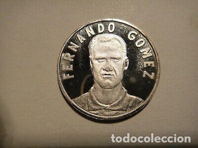 BONITA MONEDA MEDALLA CAPITAN FERNANDO FC VALENCIA PLATA (Numismática - Reproducciones)