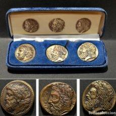 Reproductions billets et monnaies: REPRODUCCIONES MONEDAS GRIEGAS TETRADRACMA ESTARTERA Y DOBLE ESTARTERA. Lote 214220686
