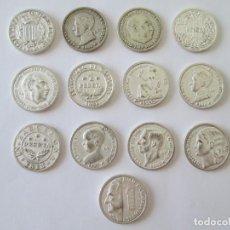 Reproducciones billetes y monedas: LOTE DE 13 MONEDAS * REPRODUCCIONES DE LA HISTORIA DE LA PESETA. Lote 214501897
