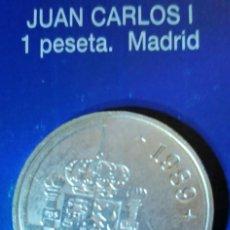 Reproducciones billetes y monedas: 1 PESETA JUAN CARLOS I MADRID. Lote 214608543