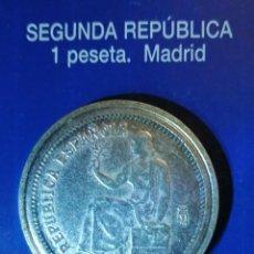 Reproducciones billetes y monedas: 1 PESETA SEGUNDA REPUBLICA MADRID. Lote 214608673