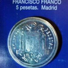 Reproducciones billetes y monedas: 5 PESETA FRANCISCO FRANCO MADRID. Lote 214608843