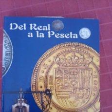 Reproducciones billetes y monedas: DEL REAL A LA PESETA REPRODUCCIÓN DE 38 MONEDAS. Lote 214900793