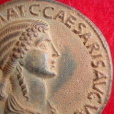 Reproducciones billetes y monedas: MONEDA ROMANA DE AGRIPPINA. CALIGULA. AGRIPINA. EXCELENTE ANTIGUA REPRODUCCIÓN.. Lote 214934368