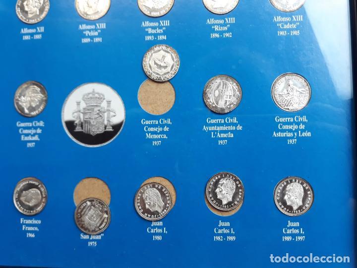 Reproducciones billetes y monedas: historia de la peseta cuadro coleccion - Foto 3 - 216011938