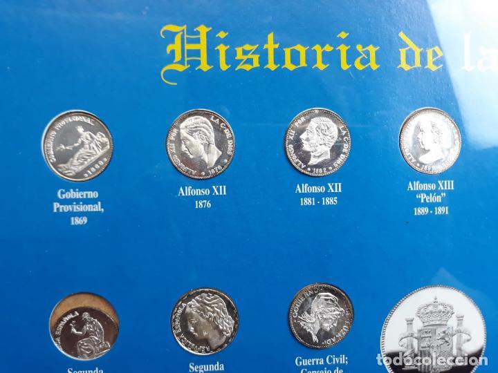 Reproducciones billetes y monedas: historia de la peseta cuadro coleccion - Foto 4 - 216011938