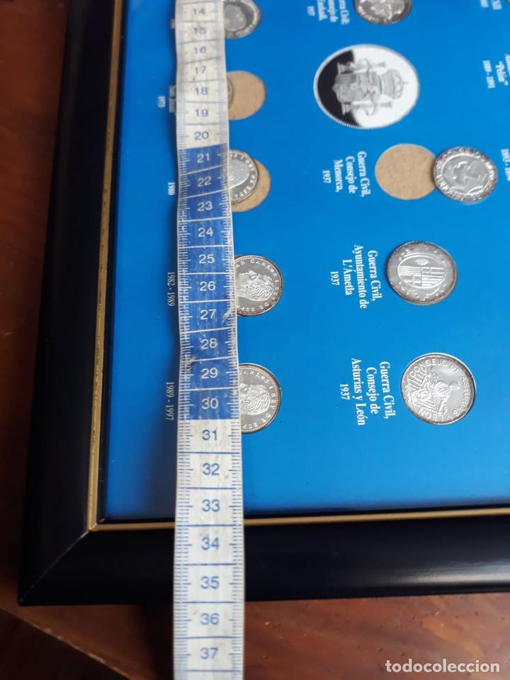 Reproducciones billetes y monedas: historia de la peseta cuadro coleccion - Foto 5 - 216011938