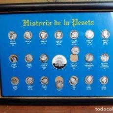 Reproducciones billetes y monedas: HISTORIA DE LA PESETA CUADRO COLECCION. Lote 216011938